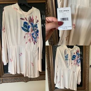 Free people open back floral tunic